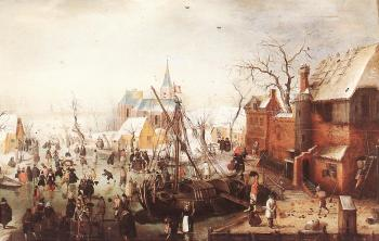 Winter Scene At Yselmuiden