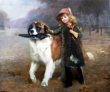 Charles Burton Barber : Off to School