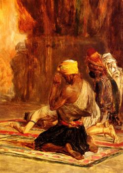 Charles Bargue : Prayer in a Mosque