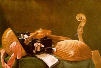 Graphic Still-Life of Musical Instruments