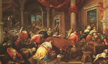 Jacopo Bassano : Graphic The Purification of the Temple