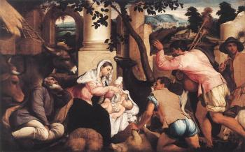 Jacopo Bassano : Adoration Of The Shepherds