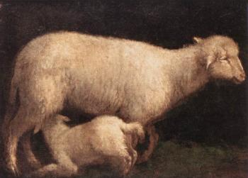 Jacopo Bassano : Sheep And Lamb