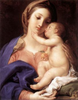 Pompeo Batoni : Madonna And Child