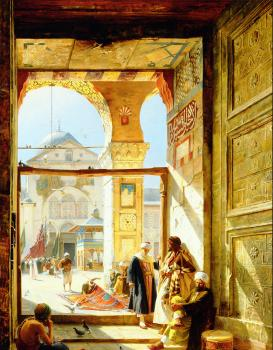 Gustav Bauernfiend : Gate of the Great Mosque, Damascus