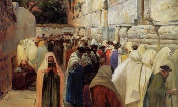 Gustav Bauernfiend : Jews at the Wailing Wall