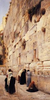 Gustav Bauernfiend : The Wailing Wall, Jerusalem