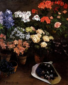 Frederic Bazille : Study Of Flowers