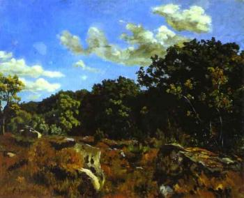 Frederic Bazille : Landscape at Chailly