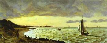 Frederic Bazille : Beach at Sainte-Adresse