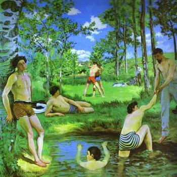 Frederic Bazille : Bathers (Summer Scene)