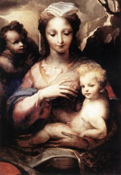 Domenico Beccafumi : Madonna with the Infant Christ and St John the Baptist