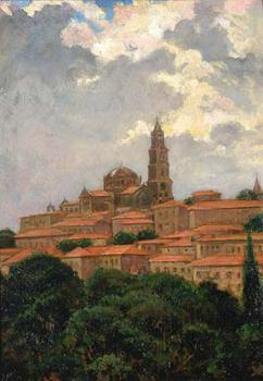 James Carroll Beckwith : Cathedral at le Puy