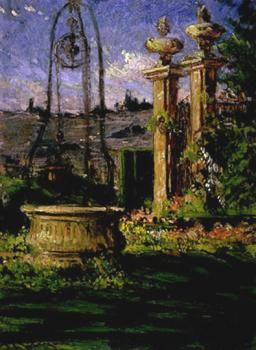 James Carroll Beckwith : In the Gardens of the Villa Palmieri