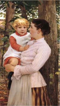James Carroll Beckwith : Mother and Child