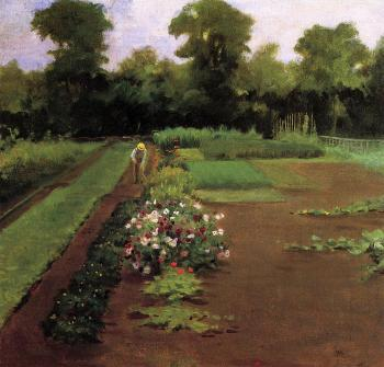 James Carroll Beckwith : New Hamburg Garden
