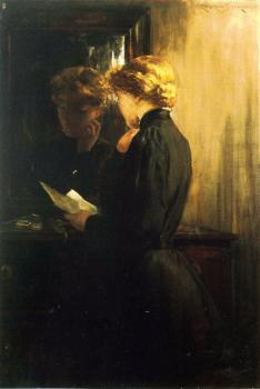 James Carroll Beckwith : The Letter