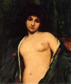 James Carroll Beckwith : Portrait of Evelyn Nesbitt