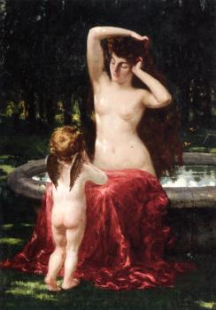 James Carroll Beckwith : Sylvan Toilette