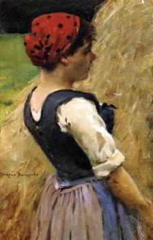 James Carroll Beckwith : Normandy Girl