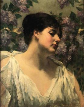 James Carroll Beckwith : Under the Lilacs