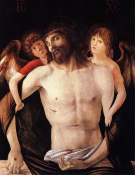 Giovanni Bellini : Bellini Giovanni The dead christ supported by two angels