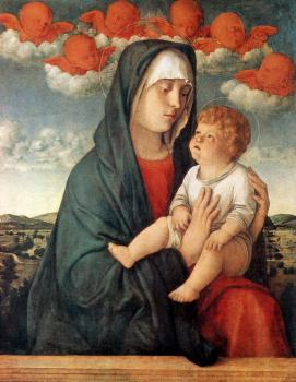 Giovanni Bellini : Madonna of the red angels