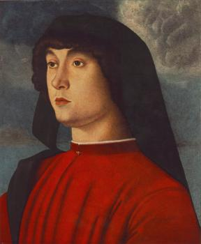 Giovanni Bellini : Portrait of a young man in red