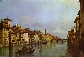 Bernardo Bellotto : Arno in Florence