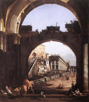Bernardo Bellotto : Capriccio of the Capital