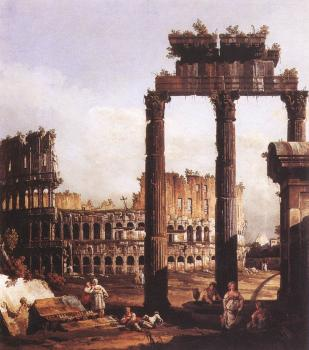 Bernardo Bellotto : Capriccio with the Colosseum