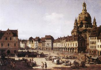 Bernardo Bellotto : New Market Square in Dresden