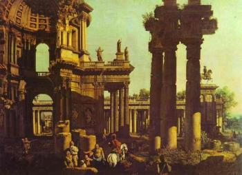 Bernardo Bellotto : Ruins of a Temple