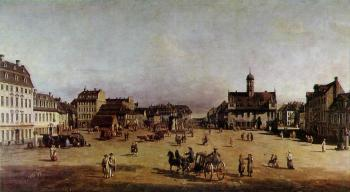Bernardo Bellotto : The Neustadter Market in Dresden