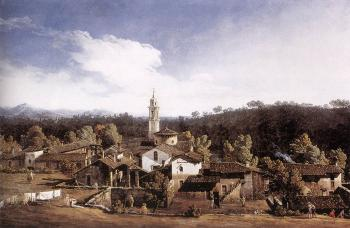 Bernardo Bellotto : View of Gazzada near Varese
