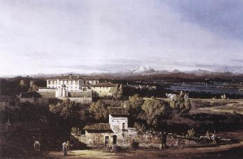 Bernardo Bellotto : View of the Villa Cagnola at Gazzada near Varese