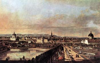 Bernardo Bellotto : View of Vienna from the Belvedere II
