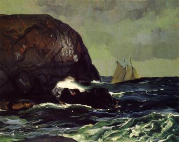 George Bellows : Beating out to Sea
