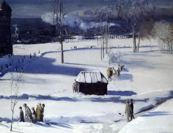 George Bellows : Blue Snow, the Battery