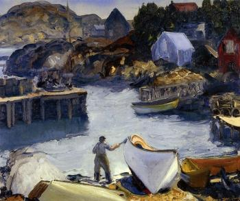 George Bellows : Cleaning His Lobster Boat