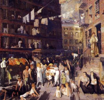 George Bellows : Cliff Dwellers