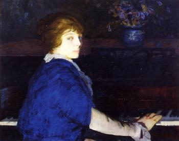 George Bellows : Emma at the Piano