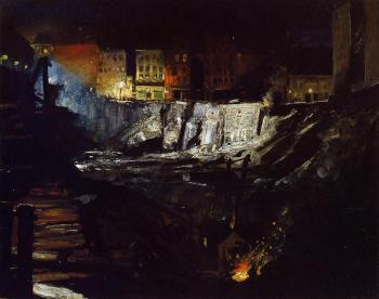 George Bellows : Excavation at Night