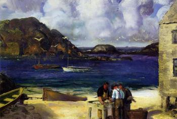 George Bellows : Harbor at Monhegan