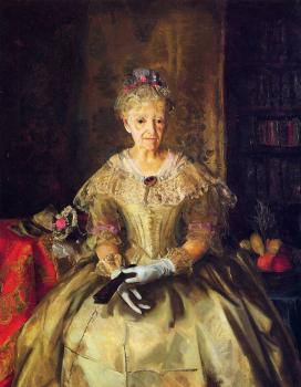 George Bellows : Mrs T in Cream Silk