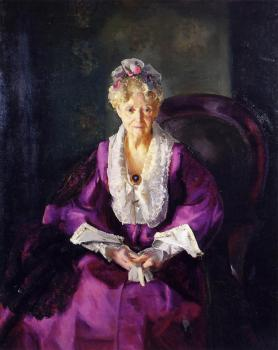 George Bellows : Mrs T in Wine Silk