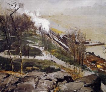 George Bellows : Rain on the River