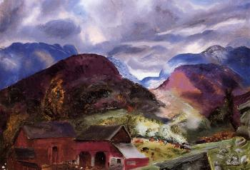 George Bellows : Snow Capped Mountains