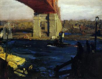 George Bellows : The Bridge, Blackwell's Island