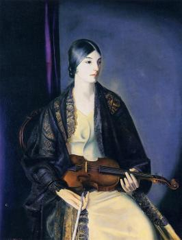 George Bellows : The Violinist Leila Kalman